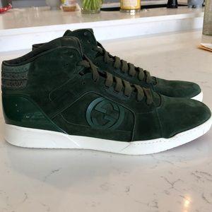 Men's Gucci Deep Green Suede Sneaker